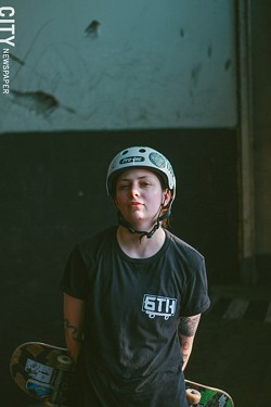 Scarlett Markham, a Ladies' Night organizer, is just one of many female skaters in Rochester. - PHOTO BY KEVIN FULLER