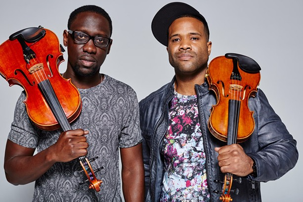String duo Black Violin will bring its mix of classical, hip-hop, and funk to Nazareth College on October 12. - PHOTO BY COLIN BRENNAN