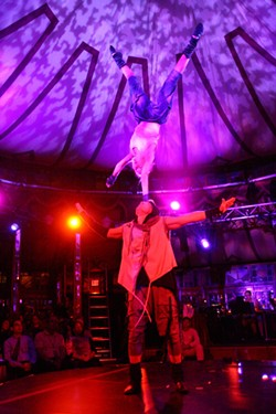 "Acrobats in Cirque Du Fringe: ""Eclectic Attraction."" - PHOTO BY FRANK DE BLASE"
