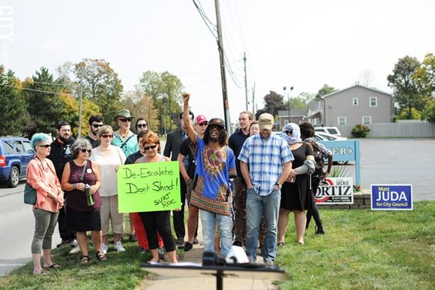 Activists urged Rochester police to cancel plans for a controversial training program set for next week. - PHOTO BY JEREMY MOULE