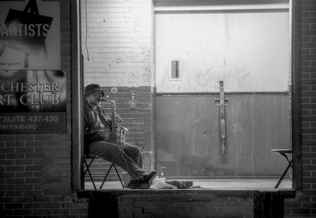 Sax player Hosea Missouri Taylor Jr. - PHOTO BY AARON WINTERS
