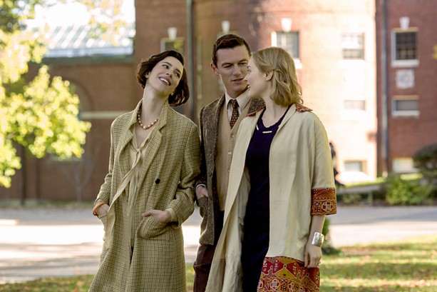 "Rebecca Hall, Luke Evans, and Bella Heathcote in ""Professor Marston and the Wonder Women."" - PHOTO COURTESY ANNAPURNA PICTURES"