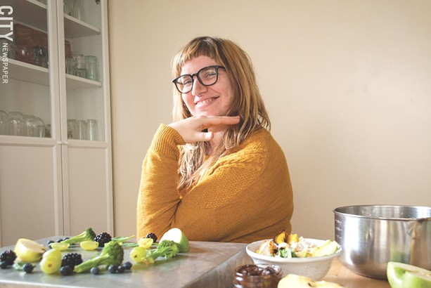 Cara Livermore and her partner Bob Lawton started the vegan quarterly Chickpea Magazine out of their home in 2011. The publication, which is about to release its 25th edition, has grown to have an international readership. - PHOTO BY RYAN WILLIAMSON