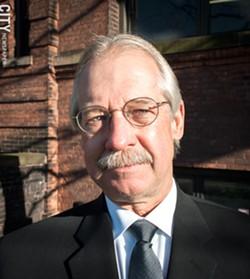 Monroe Democratic Party critic Gary Pudup - PHOTO BY RYAN WILLIAMSON