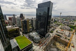 Part of Amazon's still-expanding headquarters in downtown Seattle. - PHOTO PROVIDED