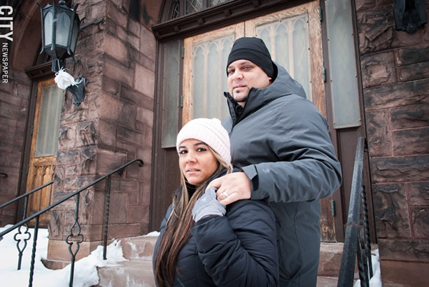 For Neysha Fonseca, pictured with husband Jaime Diaz, coming to Rochester has been bittersweet. She misses her large family, most of whom remain in Puerto Rico. - PHOTO BY RENÉE HEININGER