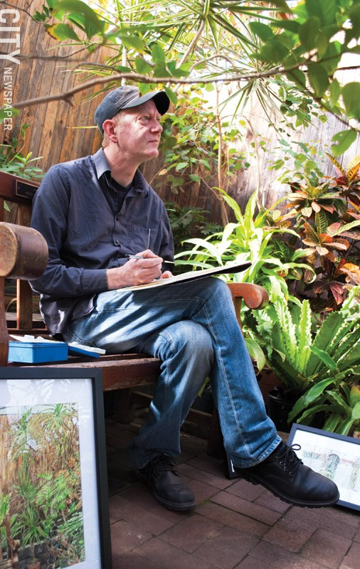 Jay Lincoln at Lamberton Conservatory. - PHOTO BY RENÉE HEININGER