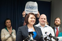 Jen Lunsford, a Democrat, plans to run against sitting State Senator Rich Funke, a Republican. - PHOTO BY JEREMY MOULE