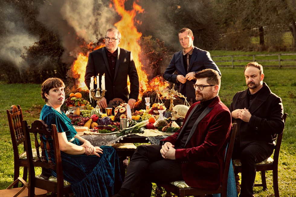 "The Decemberists released its eighth full-length album, ""I'll - Be Your Girl,"" in March. The band is playing The Smith in Geneva on Monday. - PHOTO BY HOLLY ANDRES"