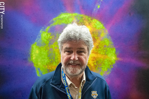 Michael Campbell, director of the University of Rochester's Laboratory for Laser Energetics. - PHOTO BY RYAN WILLIAMSON