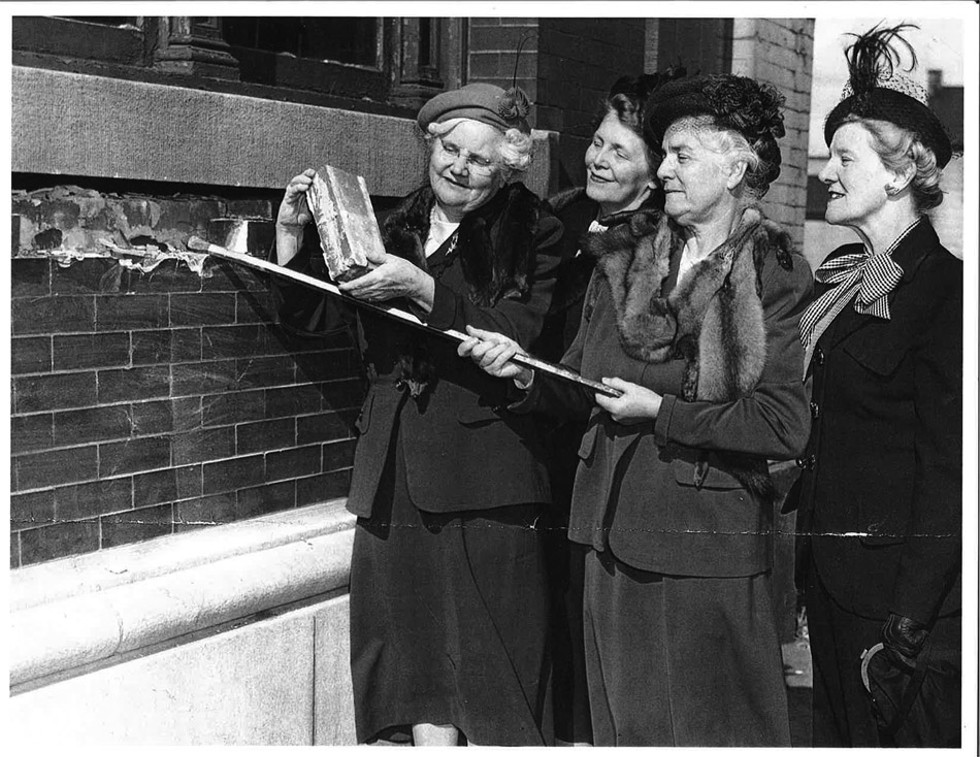 The cornerstone to the YWCA building was set in 1947 on North Clinton Ave. by Hattie M. Strong. - PHOTO PROVIDED