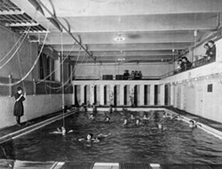 """Among the changes during Carroll's tenure leading the YWCA: elimination of """"money drains"""" like the swimming pool, shown here in an early Y photo. - PHOTO PROVIDED"""