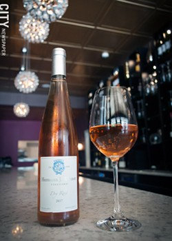 On the list at Bliss: Hermann J. Wiemer's crisp and juicy - 2017 Dry Rosé. - PHOTO BY RENÉE HEININGER