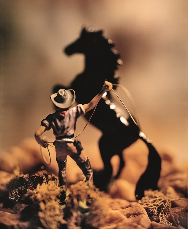 """Untitled 1989 image from David Levinthal's """"Wild West"""" series of photographs. - PHOTO COURTESY GEORGE EASTMAN MUSEUM"""