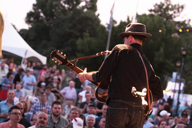 Pokey LaFarge played his set at Martin Luther King Jr. Park on Friday night. - PHOTO BY FRANK DE BLASE