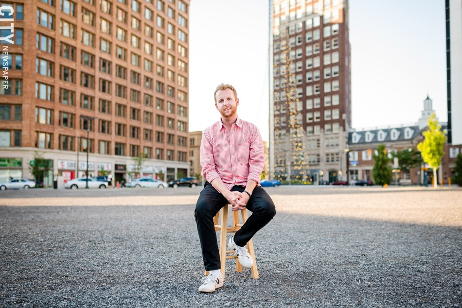 Steve Carter is a social media specialist at Eastman Kodak who has been involved in social media campaigns about Parcel 5. He's a Roberts Wesleyan College grad who also started the Explore Rochester account on Instagram. - PHOTO BY JOSH SAUNDERS