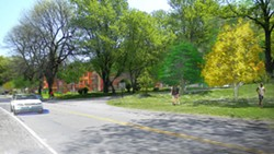Architect's rendering of a proposed new Cobbs Hill Village building on Norris Drive in southeast Rochester. - ARTWORK PROVIDED