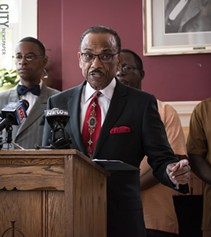 The Rev. Stewart Lewis is a social justice activist. - PHOTO BY JACOB WALSH