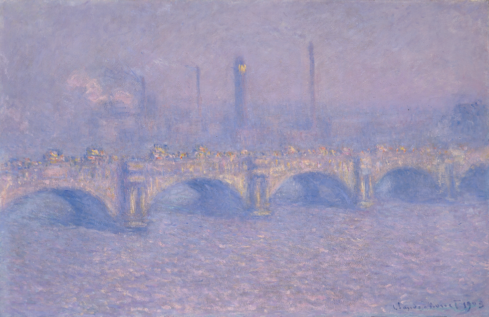 """Waterloo Bridge, Veiled Sun,"" 1903. - IMAGE COURTESY THE MEMORIAL ART GALLERY OF THE UNIVERSITY OF ROCHESTER"