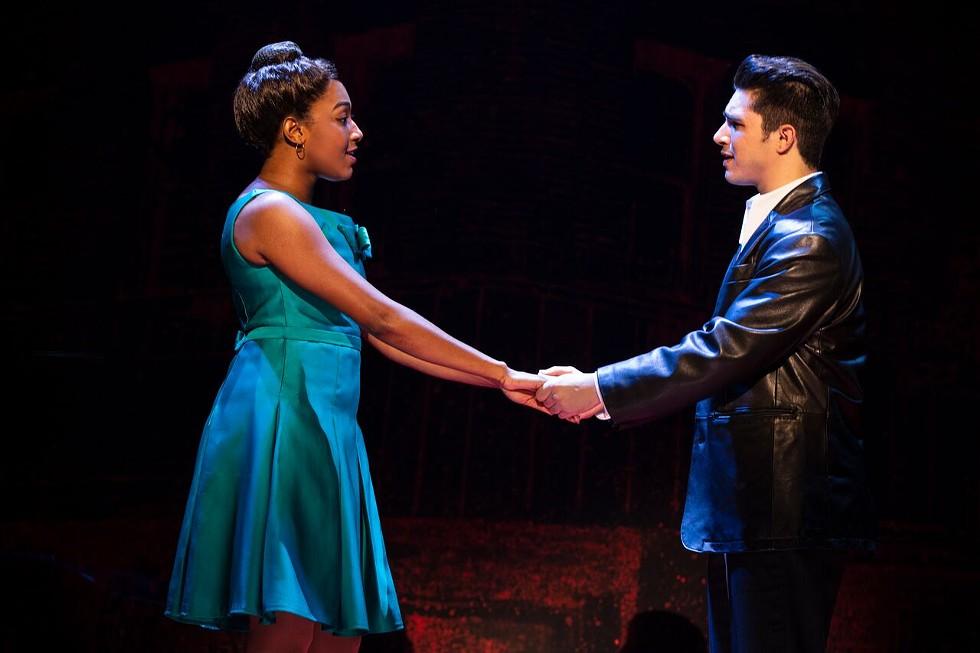 "Brianna-Marie  Bell  (Jane)  and  Joey  Barreiro  (Calogero)  in ""A Bronx Tale."" - PHOTO COURTESY JOAN MARCUS"