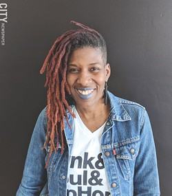 Reenah Golden, artist and owner of The Avenue Blackbox Theatre, says that the cultural demographics of the city are not properly considered in arts funding discussions. - PHOTO BY KURT INDOVINA