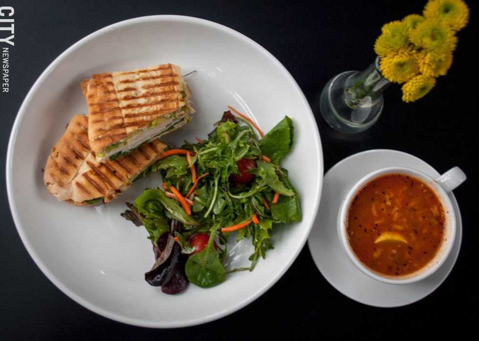 During the daytime hours, Café SOL's menu features panini, soups, and other light fare. - PHOTO BY REBECCA RAFFERTY