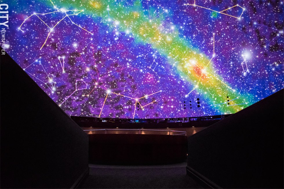 The planetarium's new Digistar 6 full-dome projection system is part of the institution's renovations. - PHOTO BY JACOB WALSH