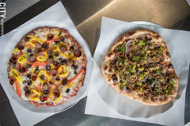 Personal, customized pizzas offer something for every taste. - PHOTO BY JACOB WALSH
