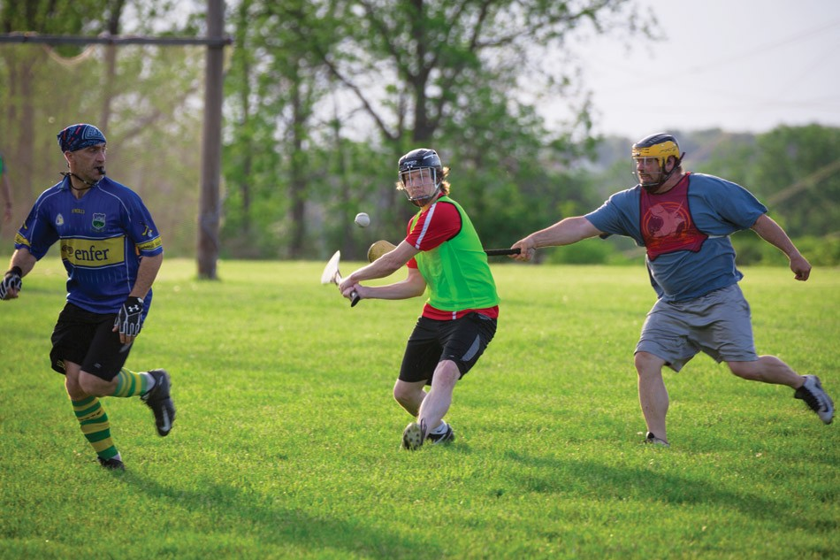 Fast and physically exerting: Hurling's reputation is as the fastest game on grass. - PHOTO BY DAVE DEVER AT REVELPIX.COM