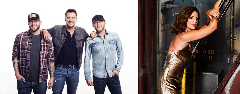 (Left to right) Country musicians Jon Langston, Luke Bryan, and Cole Swindell play CMAC on July 12; singer-songwriter Sarah McLachlan performs at CMAC with the Rochester Philharmonic Orchestra on August 6. - LEFT PHOTO PROVIDED; RIGHT PHOTO BY KHAREN HILL