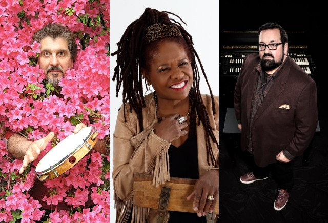The 2019 lineup for the CGI Rochester International Jazz Festival includes (left to right): Cyro Baptista, Catherine Russell, and Joey DeFrancesco. - PHOTOS PROVIDED BY ARTISTS