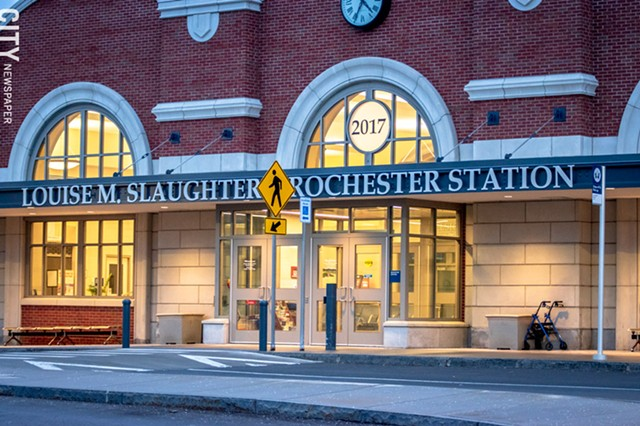 The Rochester train station, named for former Congressmember Louise M. Slaughter.