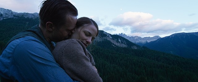 "August Diehl and Valerie Pachner in ""A Hidden Life."""