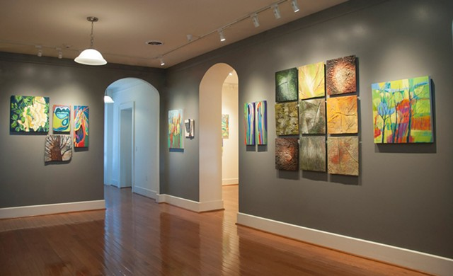 """Installation view of """"Field Trip Visions,"""" installed at Main Street Arts but viewable online."""