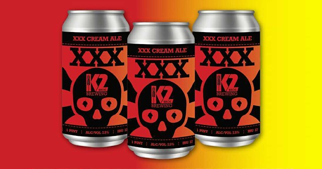 K2's XXX Cream Ale is an amped-up take on the brewery's quasi-flagship Jalapeño Cream Ale.