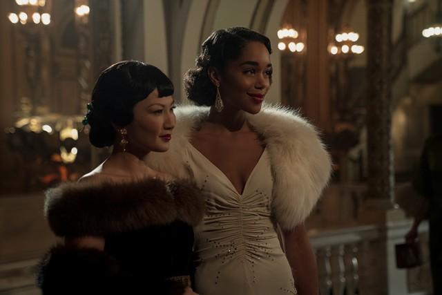 """Laura Harrier and Michelle Krusiec in the Netflix series """"Hollywood."""""""