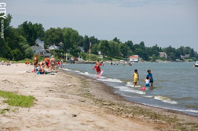 Durand Eastman Beach in summer.