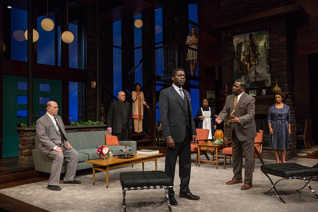 """The cast of """"Guess Who's Coming to Dinner,"""" onstage now at Geva Theatre Center."""