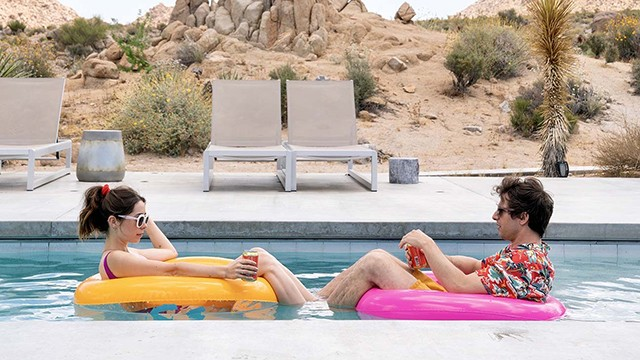 """Cristin Milioti and Andy Samberg in """"Palm Springs."""""""