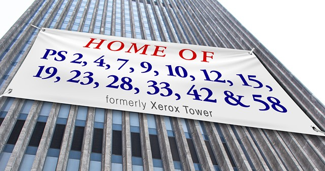 The former Xerox Tower has nearly 580,000 vacant square feet. Why not use it for schools?