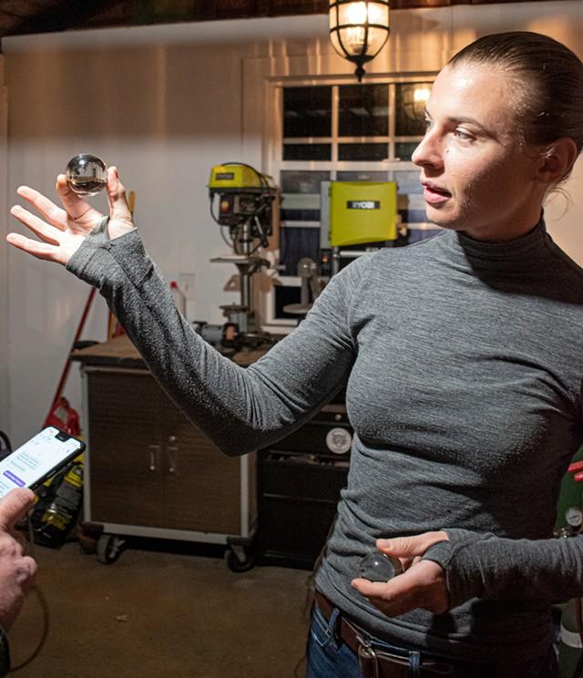 Annalisa Barron at her workshop in Gates.