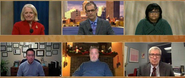 Local medical experts with WXXI's Evan Dawson on Thursday night's live forum.