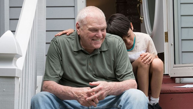 """Brian Dennehy and Lucas Jaye in """"Driveways."""""""
