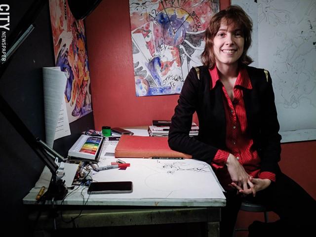 Liz Pritchard calls herself an autistic artist and advocate.