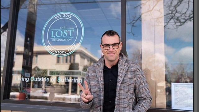 Clint Younge, a trailblazer in the Canada's cannabis industry, outside of LOST, a mental health organization in Hamilton, Ontario, that he championed as the CEO of MMJ Canada.