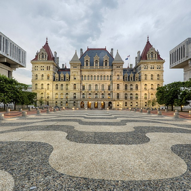 The Capitol building in Albany.