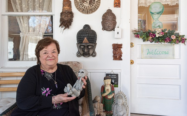 """Virginia """"Cookie"""" Stringfellow of Irondequoit says she has had experiences with extraterrestrials spanning over 40 years."""