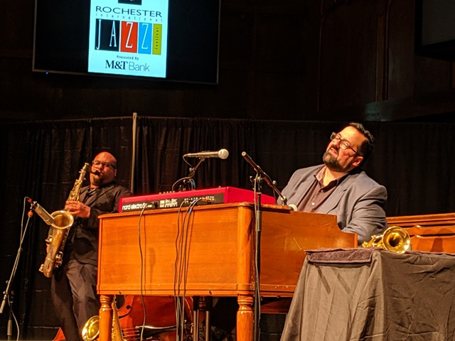 Organist Joey DeFrancesco performing during the 2019 CGI Rochester International Jazz Festival  at Temple Building Theater downtown..