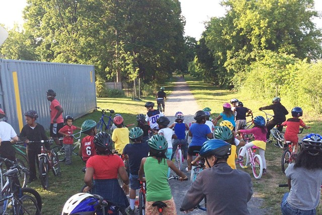 The Conkey Cruisers preparing for a ride.