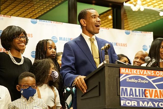 Malik Evans declares victory in the Democratic primary over Mayor Lovely Warren on June 22, 2021, all but assuring him the mayoralty in November.